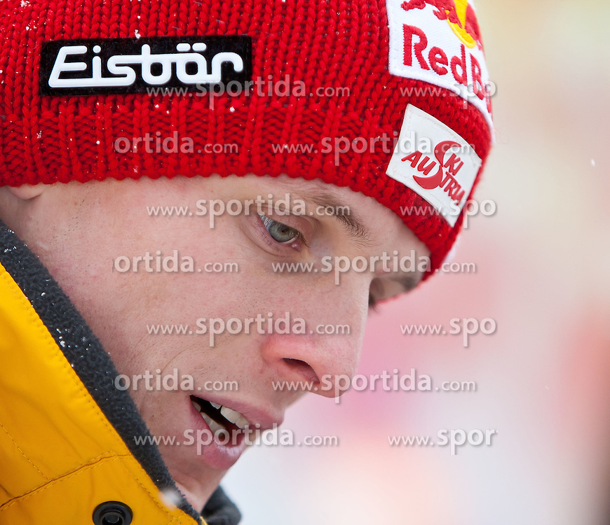 13.01.2012, Kulm, Bad Mitterndorf, AUT, FIS Ski Flug Weltcup, Probesprung, im Bild Thomas Morgenstern (AUT) // Thomas Morgenstern (AUT) during the Practice Jump of FIS Ski Flying World Cup at the 'Kulm', Bad Mitterndorf, Austria on 2012/01/13, EXPA Pictures © 2012, PhotoCredit: EXPA/ Juergen Feichter