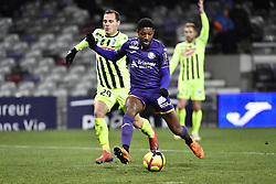 January 27, 2019 - Toulouse, France - Steven Moreira (tfc) vs Vincent Manceau  (Credit Image: © Panoramic via ZUMA Press)