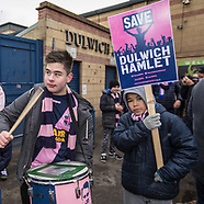 17 Mar 2018 - Supporters of Dulwich Hamlet FC march to save the club from eviction.