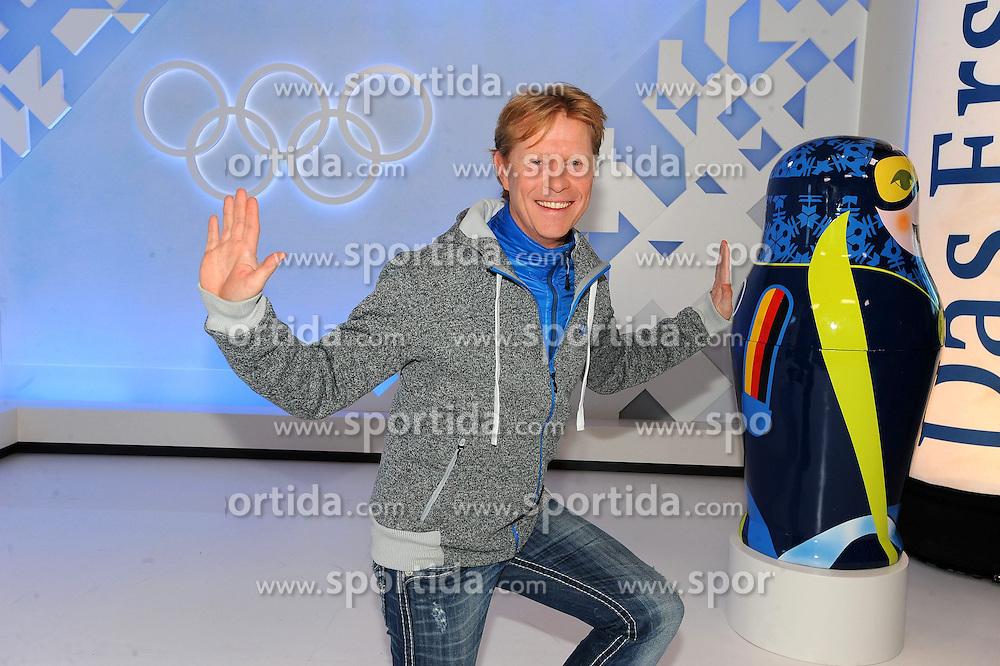10.12.2013, Olympiahalle, Muenchen, GER, ARD und ZDF Olympia in Sochi, im Bild Dieter Thoma (TV-Experte ARD/BR) bei der ARD/ZDF Olympia-PressekonferenzARD, ZDF werden, enger Zusammenarbeit von den XXII Olympischen Winterspielen vom 7 2 -23 2 2014, Sotschi mit einem vielfaeltigen Live-Angebot berichten. EXPA Pictures © 2013, PhotoCredit: EXPA/ Eibner-Pressefoto/ Stuetzle<br /> <br /> *****ATTENTION - OUT of GER*****