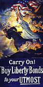 American World War I poster 'Carry on! Buy Liberty Bonds' 1917