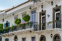 Street architecture of Casco Viejo; Panama City, Panama