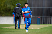 Afghan cricketer Aftab Alam during the One Day International match between Scotland and Afghanistan at The Grange Cricket Club, Edinburgh, Scotland on 10 May 2019.