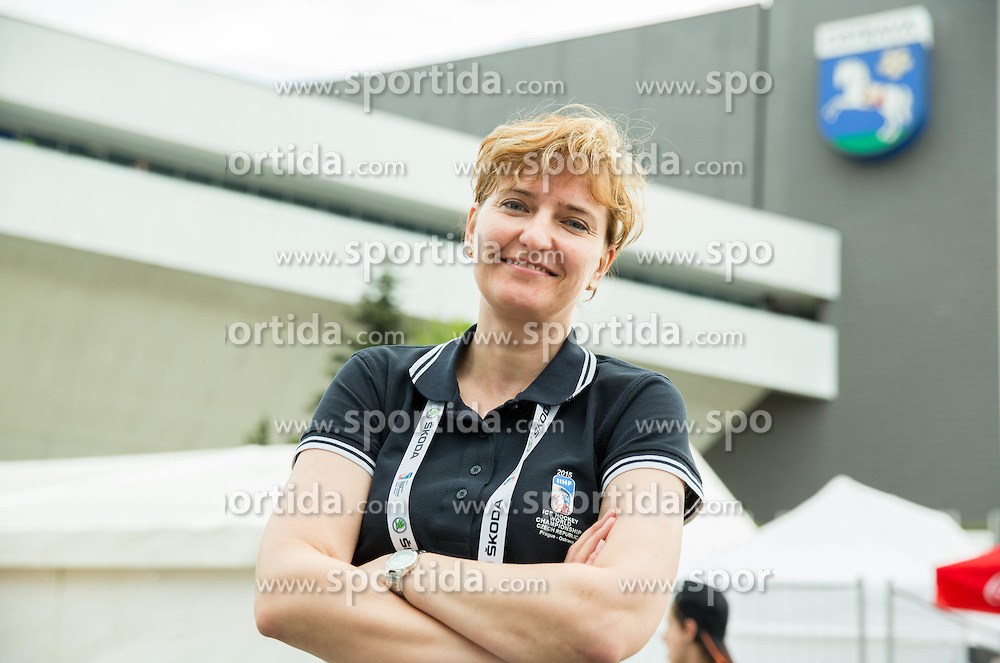 Renata Kasparova, Security Chief posing at Day 5 of 2015 IIHF World Championship, on May 5, 2015 in CEZ Arena, Ostrava, Czech Republic. Photo by Vid Ponikvar / Sportida