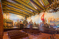 Lighting Redesign of the Mural Room at the Santa Barbara Courthouse,  by Ann Kale Associates.