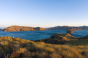 Komodo Island in Indonesia. Part of the island belongs to the Komodo National Park, a UNESCO World Heritage Site.