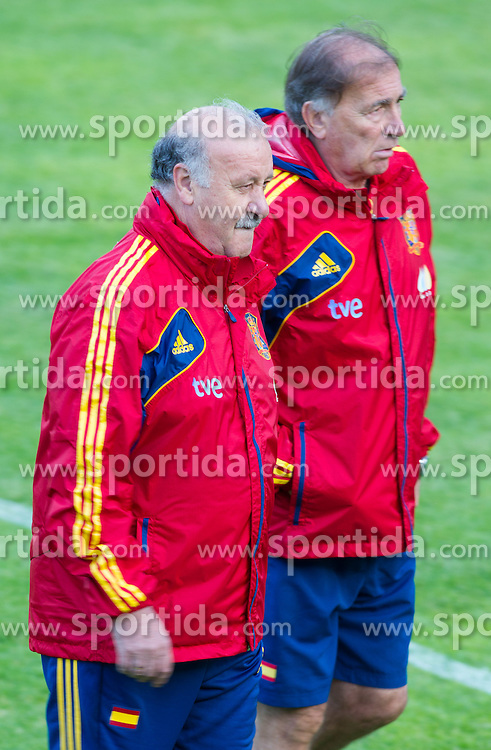 24.05.2012, Haus des Gastes, Schruns, AUT, UEFA EURO 2012, Trainingslager, Spanien, Nachmittagstraining, im Bild Vicente del Bosque, Cheftrainer und Jose Antonio Grande, Co Trainer (ESP) // Vicente del Bosque, Headcoach and Jose Antonio Grande, Assistent Coach of Sapin during practice session of Spanish National Footballteam for preparation UEFA EURO 2012 at Haus des Gastes, Schruns, Austria on 2012/05/24. EXPA Pictures © 2012, PhotoCredit: EXPA/ Johann Groder