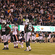 New York Jets players dejected at the end of the game during the New York Jets Vs Chicago Bears, NFL regular season game at MetLife Stadium, East Rutherford, NJ, USA. 22nd September 2014. Photo Tim Clayton for the New York Times