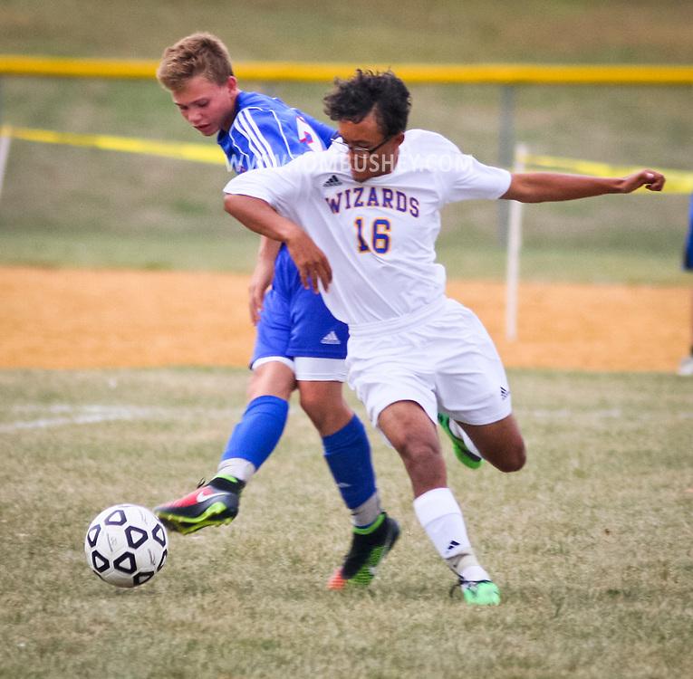 Washingtonville, New York -Goshen High School plays Washingtonville in a varsity boys' soccer game  on Oct. 7, 2014.