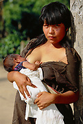 Campa Indians 'Tribe'<br />Lower Urubamba River<br />Amazon Rain Forest, PERU.  South America