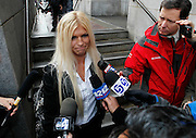 Rebecca Woodridge, step-daughter of Brian David Mitchell, is interviewed outside federal court Friday, December 10 2010 in Salt Lake City. Mitchell was found guilty for the June 5 2002 abduction of Elizabeth Smart. (AP Photo/Colin E Braley)