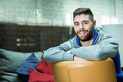 Portrait of Slovenian handball player Blaz Janc, on January 3, 2017 in Hotel Mons, Ljubljana, Slovenia. Photo by Vid Ponikvar / Sportida