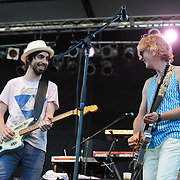 Broken Social Scene perform at the 2010 Pitchfork Music Festival in Chicago, IL.