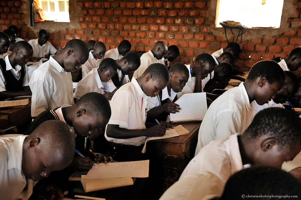 School at an IDP camp in Gulu.