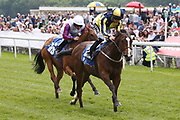 GOOD VIBES (7) ridden by Harry Bentley and trained by David Evans winning The Listed Langleys Solicitors British EBF Marygate Fillies Stakes over 5f (£50,000)  during the third day of the Dante Festival at York Racecourse, York, United Kingdom on 17 May 2019.