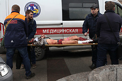 April 3, 2017 - Saint Petersburg, Russia - April 3, 2017. - Russia, Saint Petersburg. - At least 10 people have been killed after explosion between Saint Petersburg's Sennaya and Tekhnologichesky Institut metro stations. (Credit Image: © Russian Look via ZUMA Wire)