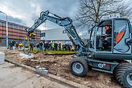 Wethouder Paulus Jansen legt eerste steen voor Werkspoorpad op 7 maart 2018