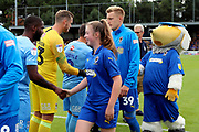 *** during the EFL Sky Bet League 1 match between AFC Wimbledon and Coventry City at the Cherry Red Records Stadium, Kingston, England on 11 August 2018.