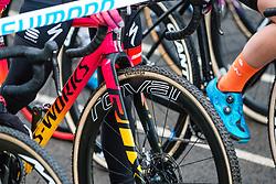 Specialized before the Women Elite race, 2019 UCI Cyclo-cross World Cup Heusden-Zolder, Belgium, 26 December 2019. <br /> <br /> Photo by Pim Nijland / PelotonPhotos.com <br /> <br /> All photos usage must carry mandatory copyright credit (Peloton Photos   Pim Nijland)