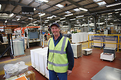 Man with a mild learning disability working as a factory cleaner,  helped into employment by the Ready 4 Work team, Nottinghamshire County Council