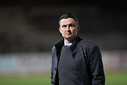 22nd February 2019, Dens Park, Dundee, Scotland; Ladbrokes Premiership football, Dundee v Hibernian; Hibernian manager Paul Heckingbottom