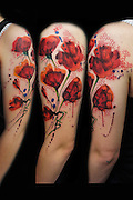 Would you let someone ink you permanently - FREEHAND? Mind-blowing tattoo designs improvised on the spot<br /> <br /> The decision to get a tattoo is a hard one - and finding a design you like enough to keep forever is even tougher.<br /> But people are now flocking to a tattoo artist who inks from his imagination there and then - no sketchpad in sight.<br /> The astonishing methods of aptly-named tattooist Jay Freestyle, who is based in Amsterdam, results in stunning, soulful artworks, which last forever on the skin.<br /> <br /> His ethereal inkings appear meticulously planned but Jay's floating shadows, thick and thin lines, accurate proportions and expert colour blending are a product of improvisation.<br /> The South African tattoo artist, 29, makes his designs up as he goes along while he is working on his clients.<br /> Inspired by traditional painting techniques such as watercolour and liquid ink, he brings in modern and graphic elements.<br /> <br /> His motto reads: 'Give me a piece of your skin and I'll give you a piece of my soul' which sums up his way of work.<br /> People try to come to Jay with extremely detailed ideas, but after talking it through and hearing his extreme knowledge about aesthetics, placement, colouring, size and symbolism; almost all turn around and say: 'Go for it, I trust you blindly' - and he never disappoints.<br /> <br /> He regularly tattoos first timers who feel no fear and fully trust in his respect and understanding of his clients' wishes.<br /> Jay grew up in a conservative Chinese family in Johannesburg and emigrated to Amsterdam more than 10 years ago where he has been living and working ever since.<br /> He's entirely self-taught and his techniques and style are unconventional.<br /> The spontaneity of his tattoos is what makes every single one so unique. Breaking away from existing boundaries, the final artwork is always a great surprise to the client.<br /> <br /> 'Most describe my style as watercolor, and it definitel