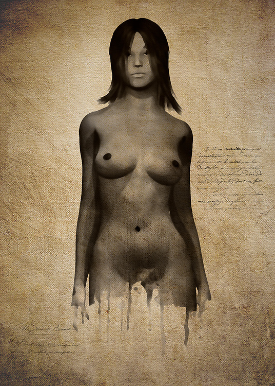 The raw bluntness of the nude human form is a powerful fixture in memorable art. This fine art piece depicts a woman standing before you in a completely nude state. She doesn't look fearful. She doesn't look concerned. She is simply standing there in her most simple form, asking the world to look her in the eye. Why is she making such a demand? We really can't say for sure. All we can do is stare at this remarkable piece of art, and wonder what she could be thinking. This is a perfect piece for anyone who wants thoughtful contemporary art. .<br /> <br /> BUY THIS PRINT AT<br /> <br /> FINE ART AMERICA<br /> ENGLISH<br /> https://janke.pixels.com/featured/naomi-standing-in-front-jan-keteleer.html<br /> <br /> <br /> WADM / OH MY PRINTS<br /> DUTCH / FRENCH / GERMAN<br /> https://www.werkaandemuur.nl/nl/shopwerk/Naakte-vrouw---Naomi-staat-naakt-voorin/446409/134