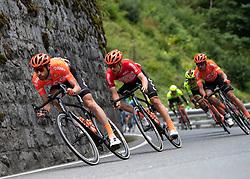 10.07.2019, Fuscher Törl, AUT, Ö-Tour, Österreich Radrundfahrt, 4. Etappe, von Radstadt nach Fuscher Törl (103,5 km), im Bild v.l. Laurens ten Dam (NED, CCC Team), Jonas Koch (GER, CCC Team) im roten Trikot des Gesamtführenden // f.l. Laurens ten Dam of the Netherlands (CCC Team) Jonas Koch of Germany (CCC Team) in the red overall leaders jersey during 4th stage from Radstadt to Fuscher Törl (103,5 km) of the 2019 Tour of Austria. Fuscher Törl, Austria on 2019/07/10. EXPA Pictures © 2019, PhotoCredit: EXPA/ Reinhard Eisenbauer
