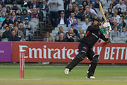 Aaron Lilley batting during the Vitality T20 Blast North Group match between Lancashire Lightning and Leicestershire Foxes at the Emirates, Old Trafford, Manchester, United Kingdom on 30 August 2019.
