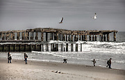 Old Time Beach Scene at Atlantic City, New Jersey - This is a recent photo, but gave me the feel of the 1930-40's