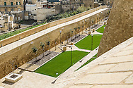 Gozo Citadella ditch from the bastion walls