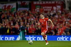 DUBLIN, IRELAND - Tuesday, October 16, 2018: Wales' Ben Davies during the UEFA Nations League Group Stage League B Group 4 match between Republic of Ireland and Wales at the Aviva Stadium. (Pic by Paul Greenwood/Propaganda)