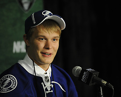 Vladislav Namestnikov of the London Knights was selected by the Tampa Bay Lightning in the 2011 NHL Entry Draft in St. Paul, MN on Friday June 24. Photo by Aaron Bell/CHL Images