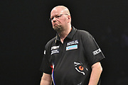 Raymond van Barneveld  during the Betway Premier League Darts at the Manchester Arena, Manchester, United Kingdom on 23 March 2017. Photo by Mark Pollitt.