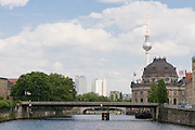 the Spree, in the background the museum island and the TV tower,Berlin,Germany
