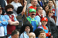 Picture by Paul Chesterton/Focus Images Ltd.  07904 640267.13/05/12.A lot of the traveling Aston Villa fans had come in fancy dress to the Barclays Premier League match at Carrow Road Stadium, Norwich.