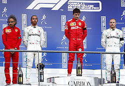 September 1, 2019, Spa-Francorchamps, Belgium: Motorsports: FIA Formula One World Championship 2019, Grand Prix of Belgium, ..Laurent Mekies (FRA, Scuderia Ferrari Mission Winnow), #44 Lewis Hamilton (GBR, Mercedes AMG Petronas Motorsport), #16 Charles Leclerc (MCO, Scuderia Ferrari Mission Winnow), #77 Valtteri Bottas (FIN, Mercedes AMG Petronas Motorsport) (Credit Image: © Hoch Zwei via ZUMA Wire)