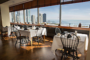 Cliff Dwellers Club interior and skyline view in Chicago USA