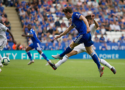 Ben Chilwell of Leicester City has a shot at goal - Mandatory by-line: Jack Phillips/JMP - 18/08/2018 - FOOTBALL - King Power Stadium - Leicester, England - Leicester City v Wolverhampton Wanderers - English Premier League
