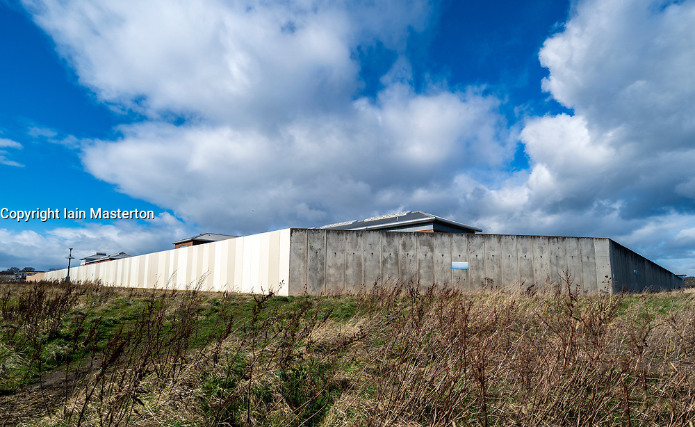 Exterior view of HMP Edinburgh in Saughton, Edinburgh, Scotland, Uk