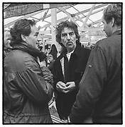 Damon Hill, George Harrison, Drivers Mess. Goodwood. 1999.
