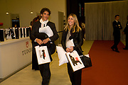 SIMON PIETRO CICCONE; SARAH TONALI, Tudor presentation. Triennale Museum of Milan. Milan. 29 September 2008 *** Local Caption *** -DO NOT ARCHIVE-© Copyright Photograph by Dafydd Jones. 248 Clapham Rd. London SW9 0PZ. Tel 0207 820 0771. www.dafjones.com.
