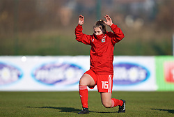 ZENICA, BOSNIA AND HERZEGOVINA - Tuesday, November 28, 2017: Wales' Alice Griffiths during the pre-match warm-up before the FIFA Women's World Cup 2019 Qualifying Round Group 1 match between Bosnia and Herzegovina and Wales at the FF BH Football Training Centre. (Pic by David Rawcliffe/Propaganda)