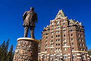 William C Van Horne statue at the Banff Springs Hotel, Banff National Park, Alberta, Canada