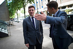 © Licensed to London News Pictures. 06/06/2015. London, UK.  ANDY BURNHAM arriving at the venue. Current Labour Leadership candidates attend a debate at the Fabien Society Conference, held at the institute of Education in London. Photo credit: Ben Cawthra/LNP