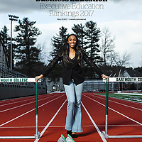 Dartmouth Next Step Olympian Lashinda Demus, photographed for the Financial Times