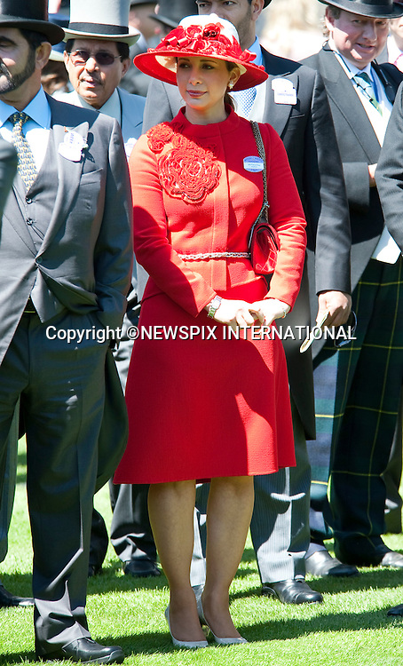 "PRINCESS HAYA.on the second day of Royal Ascot 2010, Ascot, Berkshire_16/06/2010.Mandatory Photo Credit: ©Dias/Newspix International..**ALL FEES PAYABLE TO: ""NEWSPIX INTERNATIONAL""**..PHOTO CREDIT MANDATORY!!: NEWSPIX INTERNATIONAL(Failure to credit will incur a surcharge of 100% of reproduction fees)..IMMEDIATE CONFIRMATION OF USAGE REQUIRED:.Newspix International, 31 Chinnery Hill, Bishop's Stortford, ENGLAND CM23 3PS.Tel:+441279 324672  ; Fax: +441279656877.Mobile:  0777568 1153.e-mail: info@newspixinternational.co.uk"