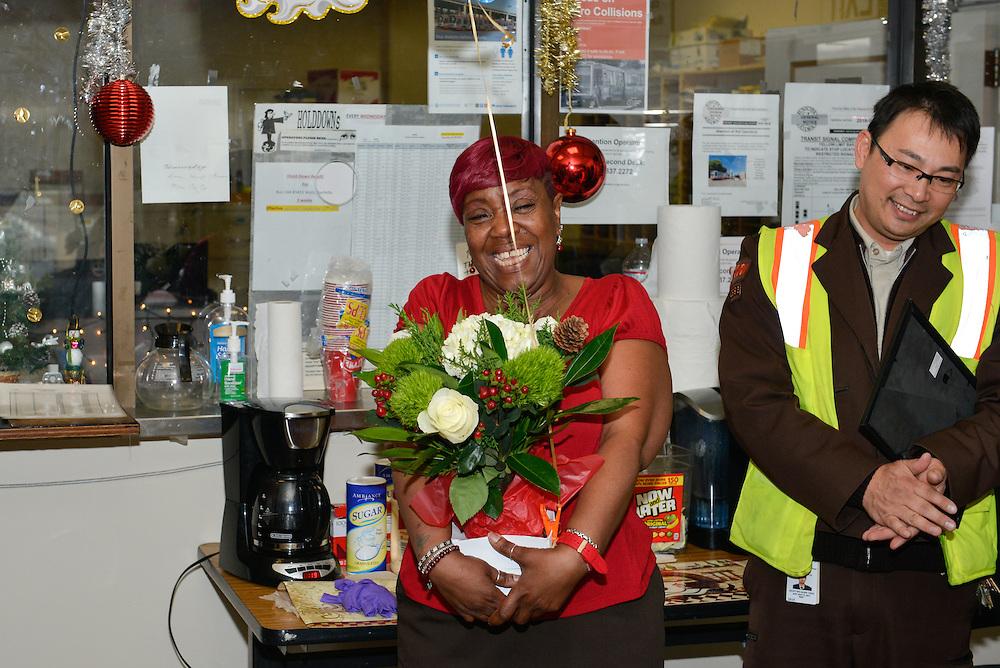 Retirement Gift  for Green Division Operator Doris Johnson, #1365 | December 14, 2016