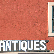 What's with me and the outside of antique stores?