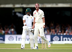 Stuart Broad of England celebrates taking the wicket of JP Duminy of South Africa - Mandatory by-line: Robbie Stephenson/JMP - 07/07/2017 - CRICKET - Lords - London, United Kingdom - England v South Africa - Investec Test Series